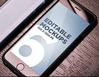 Photorealistic iPhone 6 Mock Ups (PSD)