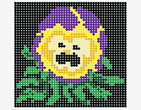 Pansy flower ( Seamless Prints)