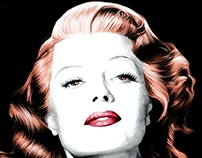 Rita Hayworth Large Size Portrait