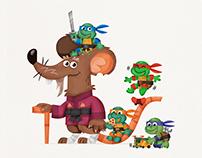 Splinter and the Ninja Turtles