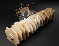 Bicycle Wooden Rack Concept