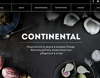 CONTINENTAL web cite for restaurant
