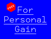 For Personal Gain — Free Monospaced Typeface