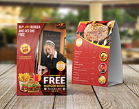 Restaurant and Cafe Table Tent Template Vol8