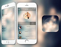 Blurry IOS8 Mobile App Ui