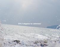 354.5 degrees to calmness°