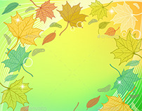 Autumn Backgrounds with Leaves