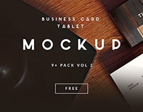 9+ Business Card | TABLET FREE MOCKUP VOL 2 [Download]