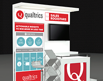 Qualtrics booth for Dreamforce '14