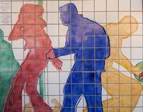"""Art Walk"",  Community Redevopment Project Tile  Mural"