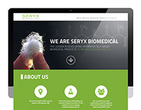 Seryx Biomedical   Website Design