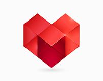 LOVE marketing identity