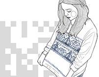 data matrix - sweater