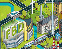 FBD Insurance Dublin Map Advertising Campaign
