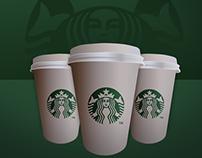 Starbucks Coffe Cup icon - Free .PSD File!
