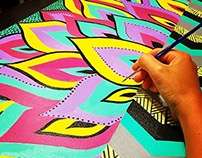 Bold & Bright Tribal Painting