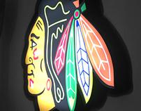 Chicago Blackhawks LED Sign