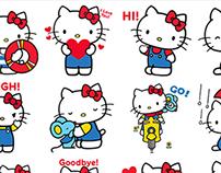 Hello Kitty Facebook Stickers