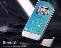 Seven Music - Music Player Application Design
