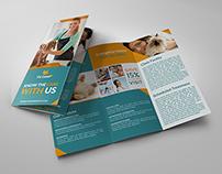 Veterinarian Clinic Tri-Fold Brochure Vol. 3