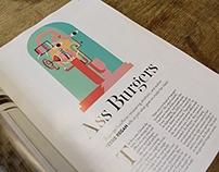 Ass Burgers Editorial Illustration