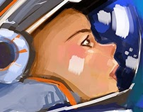 Woman in space
