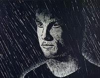 Jenson Button Painting: Edge of Darkness