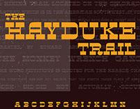 Hayduke, Typeface Design