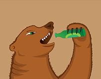 Character Development: Drinking Bear