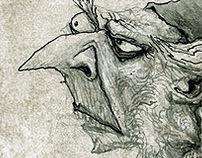Nosferatu & Nostradamus - test comic pages