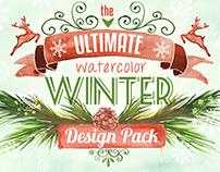 Watercolor Winter Design Pack