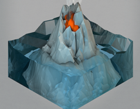 LOW POLY ICE(OMETRIC) VOLCANO