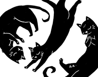 Illustration : Black Cats