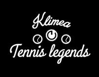 Klimea Tennis Legends visual identity