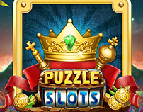 GUI design for social game Puzzle Slots.