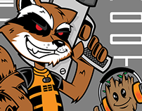 """Rocket Raccon and Groot """"Sneakerheads of the Galaxy"""""""