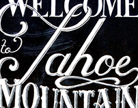 Tahoe Mountain Brewing Co. Chalkboard Typography