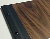 Wood and Leatherette Menu Cover