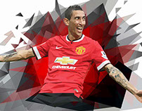 Di Maria - Low Poly Illustration Colored