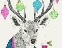 Mr. Deer gets festive