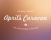 April's Caravan Branding and Website Concept