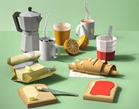 Papercraft Breakfast