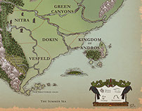 World map for the RPG Cleadonia