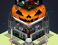 "Halloween ""Monster Tower"""