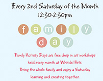 Whitdel Arts - Family Day Workshop 2014 Calendar