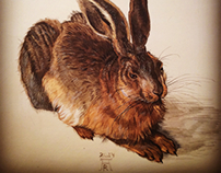 "Copy of ""Young hare"" ( Albrecht Durer)"