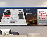 Executive Briefing Center Digital Display Network
