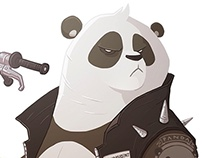 Biker Panda!