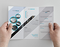 Creative Trifold Brochure Template ( Freebie )