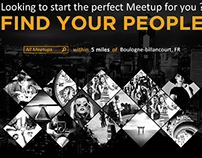 Meetup site redesign, projet personnel